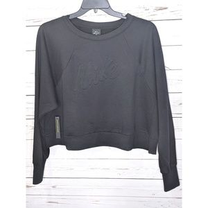 NWT Nike Embossed Crop Dri-fit Sweater
